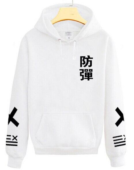 US $22 61 37% OFF|2017 new arrival kpop bts bangtan boys chinese name print  black white hoodie fashion pullover xxlll sweatshirt S 2XL sudaderas-in