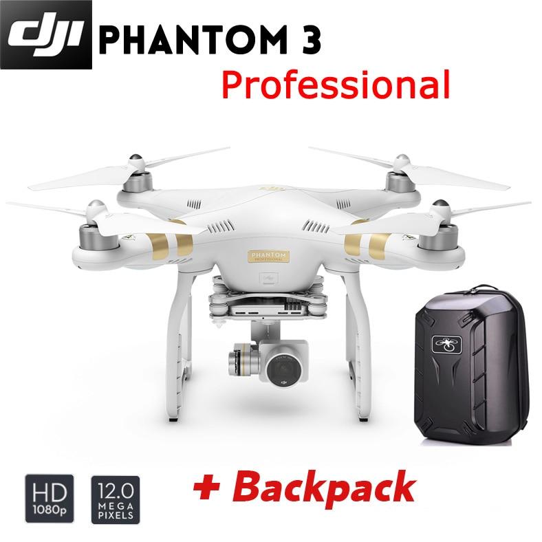 DJI Phantom 3 Professional Quadcopter with 4K Camera and 3-Axis Gimbal Brand New +Hardshell Backpack