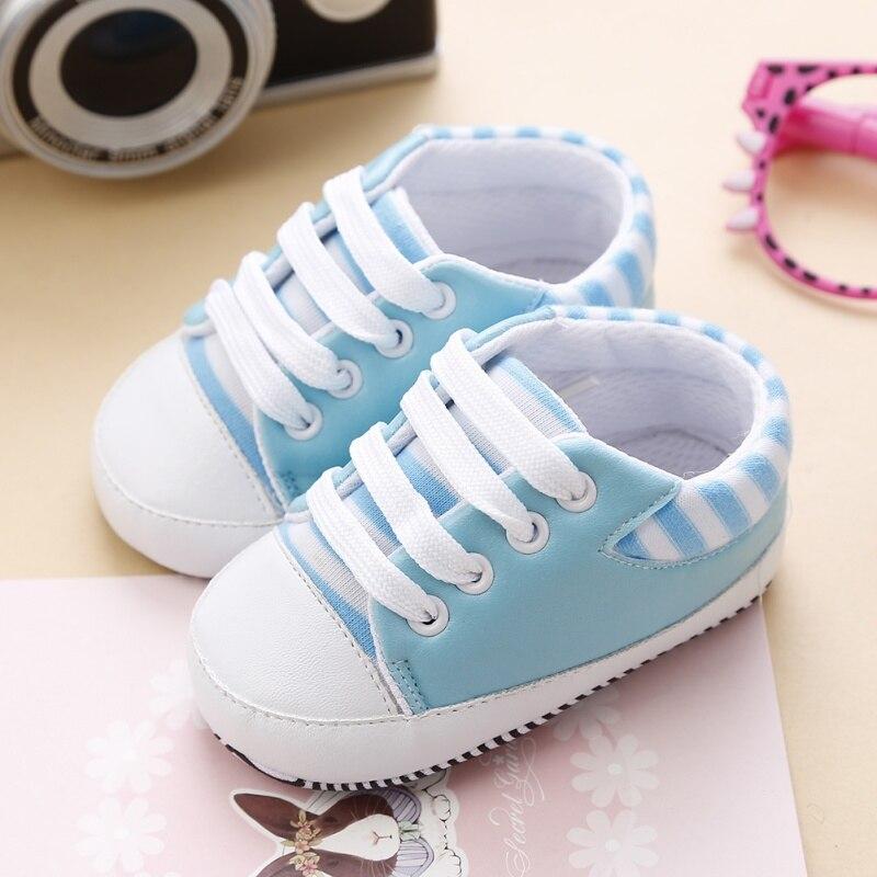 0-18 м Обувь для младенцев новорожденных для девочек и мальчиков мягкая подошва кроватки Обувь Для Малышей Малыша Холст Sneaker Prewalker
