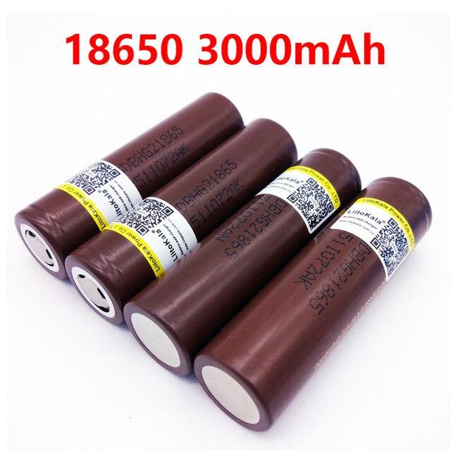 Новый LiitoKala HG2 18650 18650 3000 mah заряжаемая электронная сигарета батареи питания высокий разряд, 30A большой ток