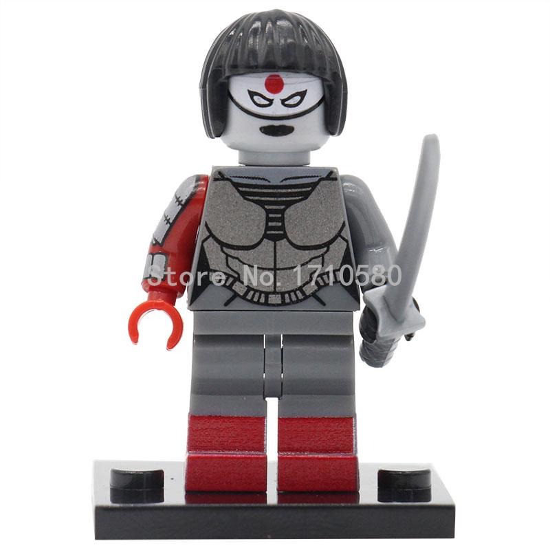 XINH 318 Katana Minifigures Suicide Single Sale Squad Film SingleSale Constructing Blocks Finest Youngsters Reward Toy