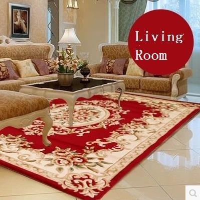 Elegant American Rustic Pure Manual Carve Patterns Wool Living Room Rug,Modern  European Carpets For Bedroom,Designer Red Rugs In Carpet From Home U0026 Garden  ...