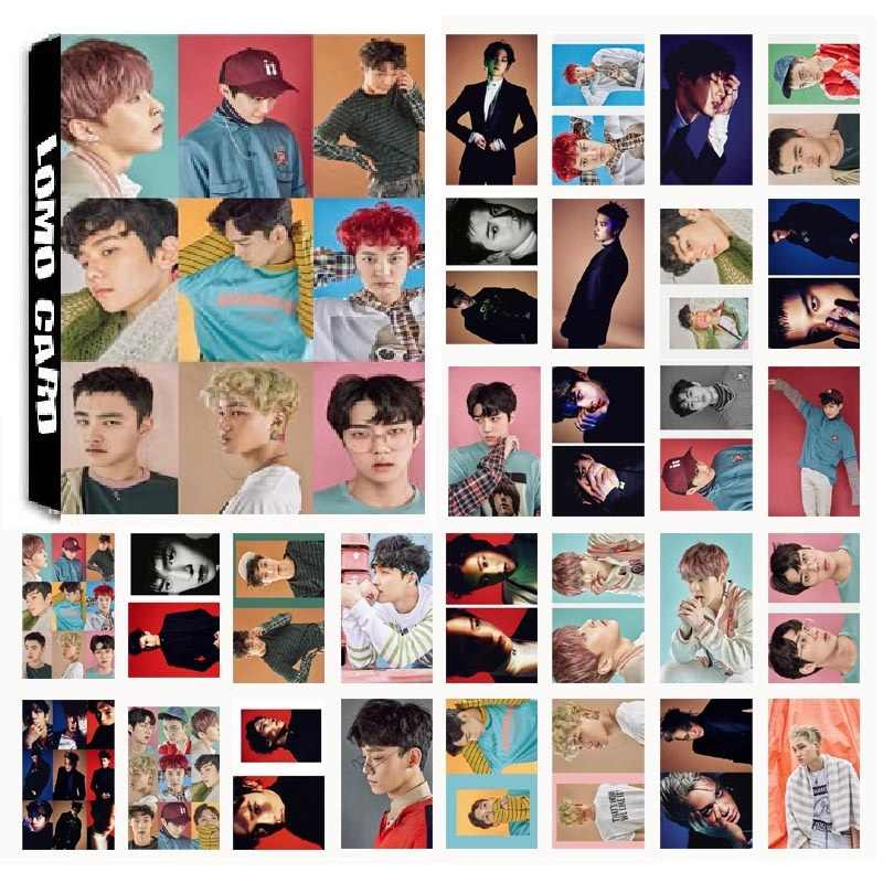 New 30Pcs/set KPOP EXO 05 EX'ACT Album Photo Card PVC Cards Self Made LOMO Card Photocard