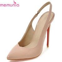MEMUNIA 2018 hot sale stiletto high heels pointed toe shoes women spring autumn buckle wedding party elegant pumps