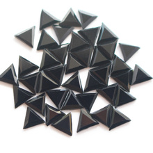 New triangle shaped 6*6mm 144pcs/lot black Rhinestones hot fix rhinestone for garment Free Shipping