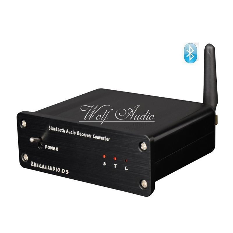 D3 HIFI Mini Bluetooth Audio Receiver Decoder DAC Fiber Coaxial Lossless Output With Power Adapter