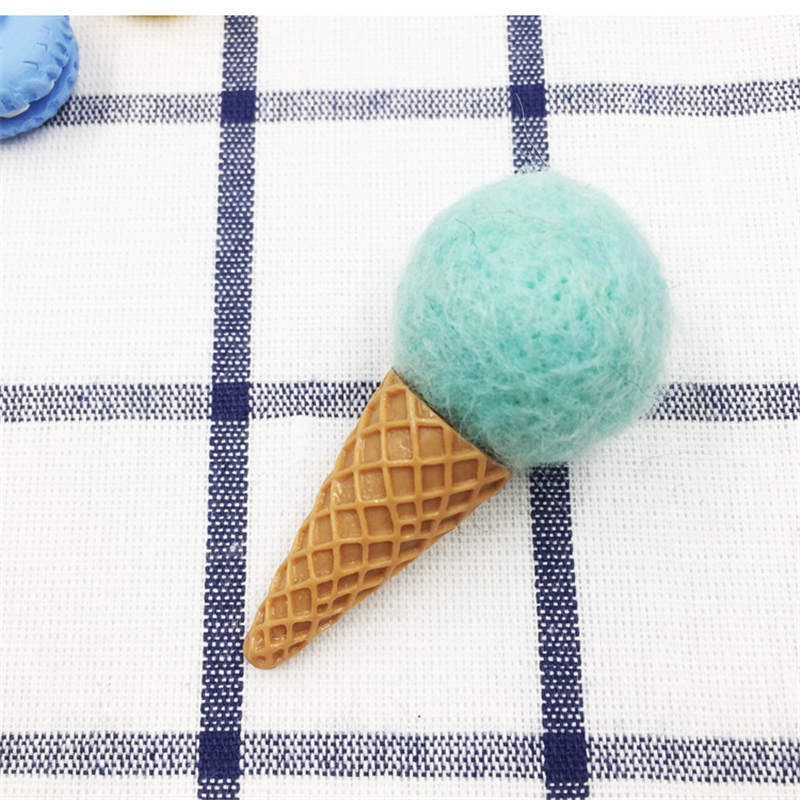 1 Pezzi Mini Ice Cream Lana Bricolage Feltro Colpire Kit FAI DA TE Multiuso Albero di natale Deco Spilla Fascia Dei Capelli Dei Bambini Verde Rosa Rosso Verde