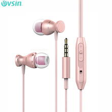 In-ear Earphone Control Amazing Sound Metal Headset 3.5mm for iphone 6/5/4 galaxy S5/S4/3 iOS/Android with microphone