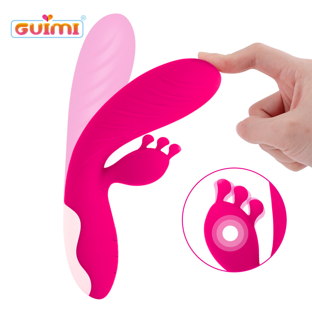 Buy GUIMI Silicone 3 Points Massage G-spot Vibrator Perineum Pussy Massaging Vagina Tight Clitoris Stimulation Sex Toys Woman