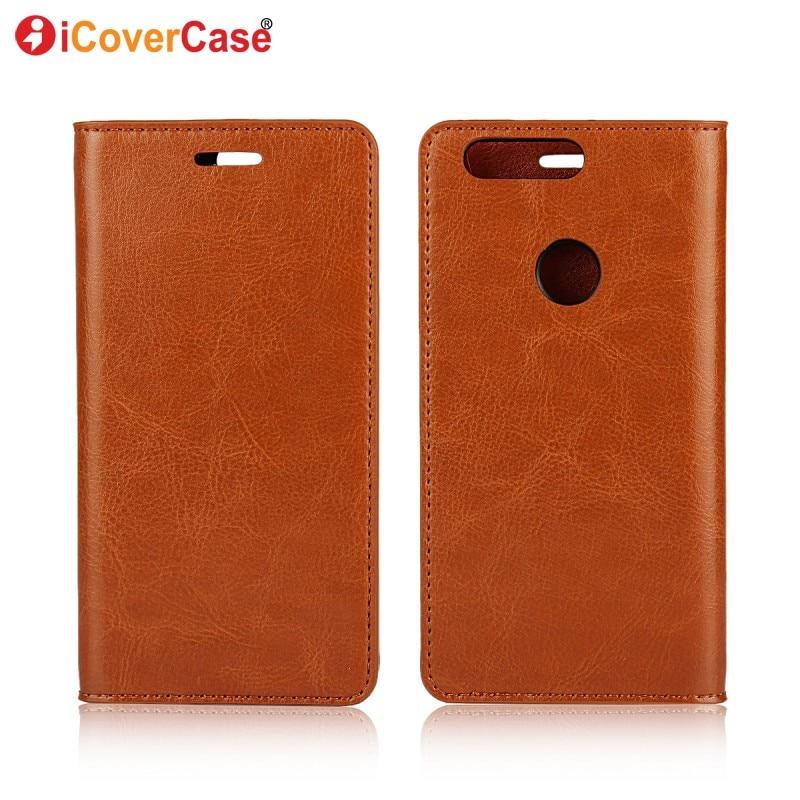 imágenes para Caja del teléfono para Huawei Honra 8 Cubierta Tirón de la Carpeta del Cuero Genuino Coque para Huawei Honor 8 Casos Capa Fundas Carcasas Hoesjes Etui