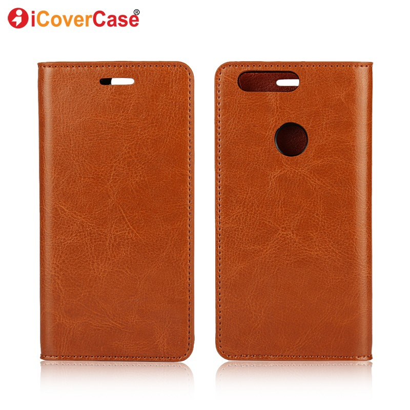 Phone Case for Huawei Honor 8 Cover Flip Genuine Leather Wallet Coque for Huawei Honor 8
