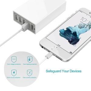 Image 4 - רב usb מטען 5 יציאת USB תחנת טעינה אוניברסלי 40w מהיר מטען QC 2.0 טלפון מטענים USB שולחני מטען עבור טלפון