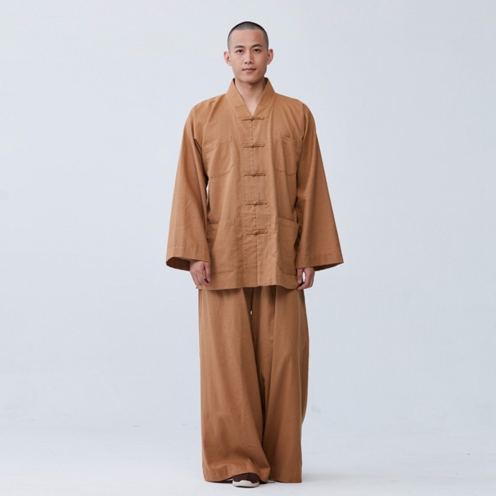 3da726988bf 2019 ZanYing Buddhist Meditation Zen Clothing Sets Loose Cotton ...