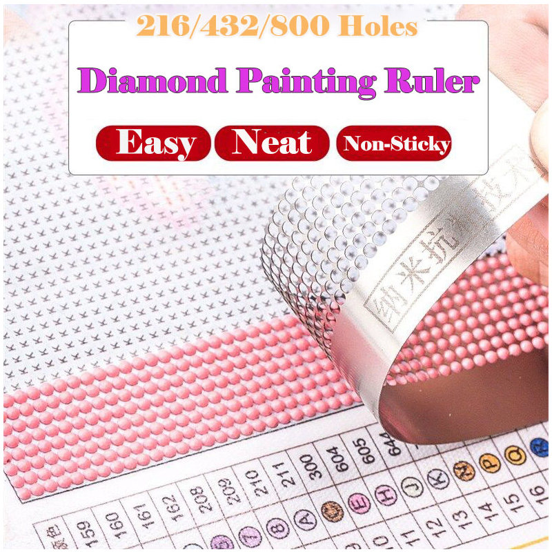 Diamond Painting Tools Mesh Ruler Dot Drill Drawing Ruler Diamond Embroidery Accessory