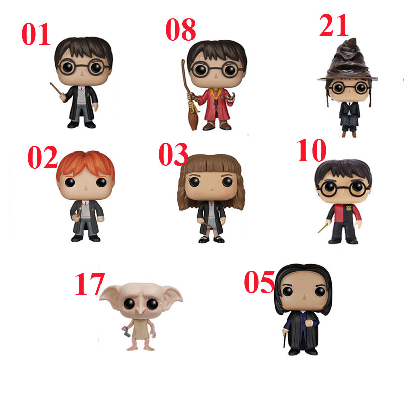 Hot movie Harry Potter Action Figure Harry Potter Severus Snape Dobby Vinyl Figure Collectible Model font