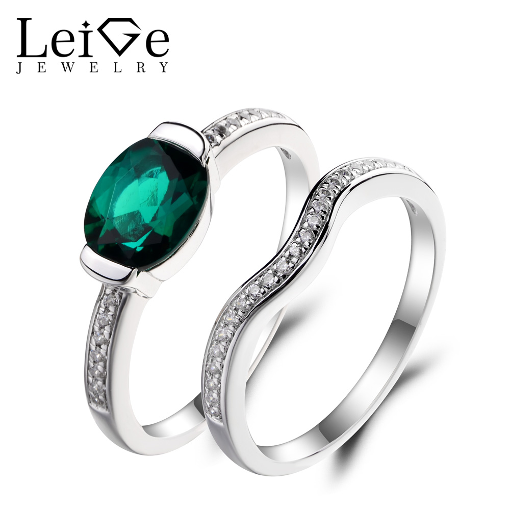 Leige Jewelry Emerald Ring Emerald Proposal Ring Green Gemstone May Birthstone Solid 925 Sterling Silver Anniversary GiftsLeige Jewelry Emerald Ring Emerald Proposal Ring Green Gemstone May Birthstone Solid 925 Sterling Silver Anniversary Gifts
