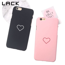 LACK Love Heart Painted Phone Case For iphone 6 Case Fashion Couples Back Cover Ultra Thin Hard PC Cases For iphone 6S 6 Plus