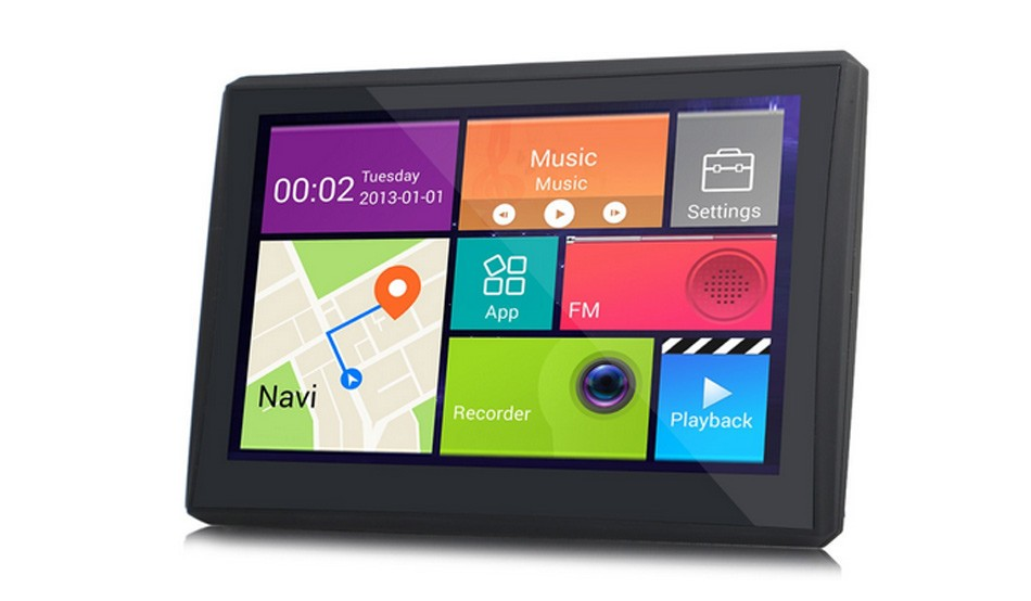 7 inch Android 4.4 Vehicle Bluetooth GPS Navigation Car DVR Camera Recorder With FM WIFI 8GB 512MB Truck Navigator Native Free Map -1