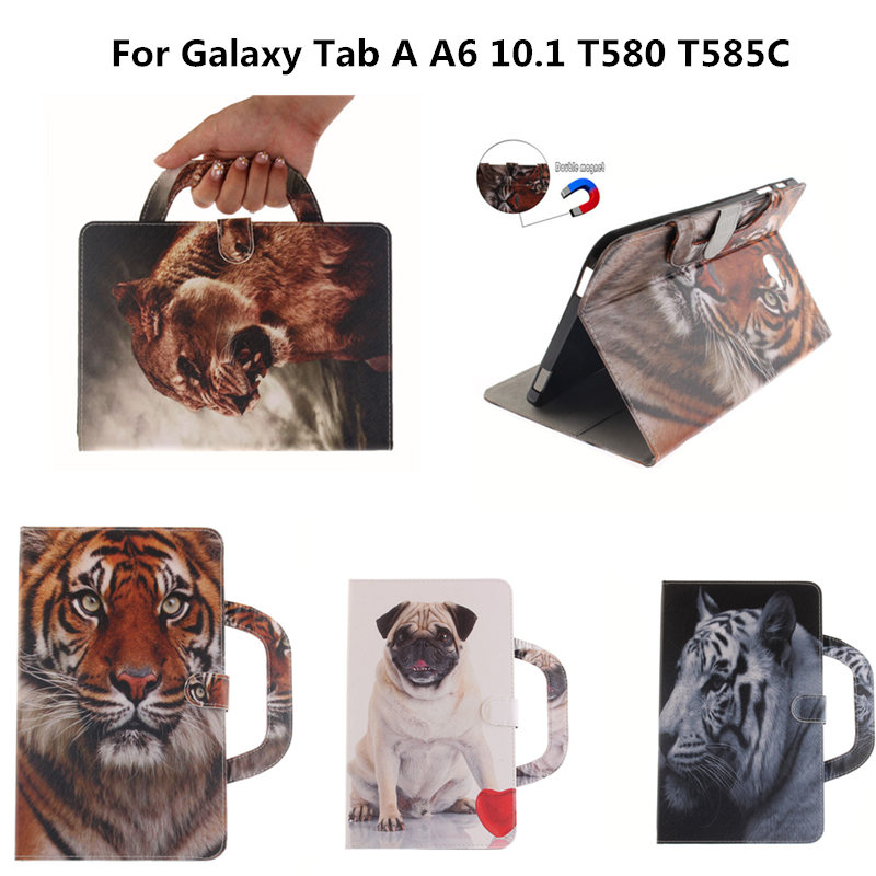 Tablet Portable PU Leather Case for fundas Samsung Galaxy Tab A A6 10.1 Inch 2016 T580 T585 T585C Cover coque with Stand Cases for samsung galaxy tab a 9 7 case pu leather shockproof coque with stand tablet cover cases for samsung galaxy tab a 9 7 t550