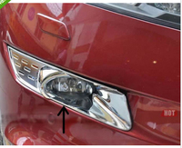 Bright Chrome front fog lamp cover trims for Crosstour 2012 2013