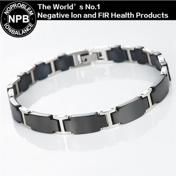 P065 noproblem germânio ion balanço de easy-gancho terapia choker luxo energia aptidão homens da moda anti-fadiga pulseira de miçangas
