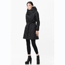 [XITAO] новая зимняя Корейский ветер мода стиль оригинальный дизайн сплошной цвет молния тонкий длинный форма женский вниз и парки, BCB-006