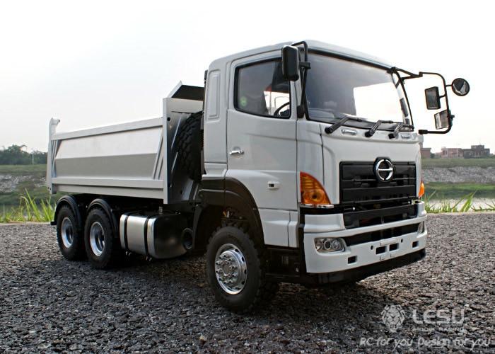 Free shipping 1:14 Dump Truck Hino 6*6 Hydraulic pressure 7 channel RC vehicle model pollutants spread around gweru dump site