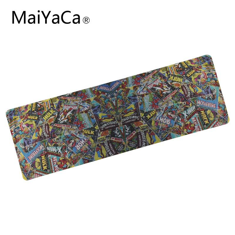 MaiYaCa 900x300 MM Mouse Pad Marvel Comics Design Mouse to Mats DIY Design Pattern Computer large Rubbe Mousepad Gaming