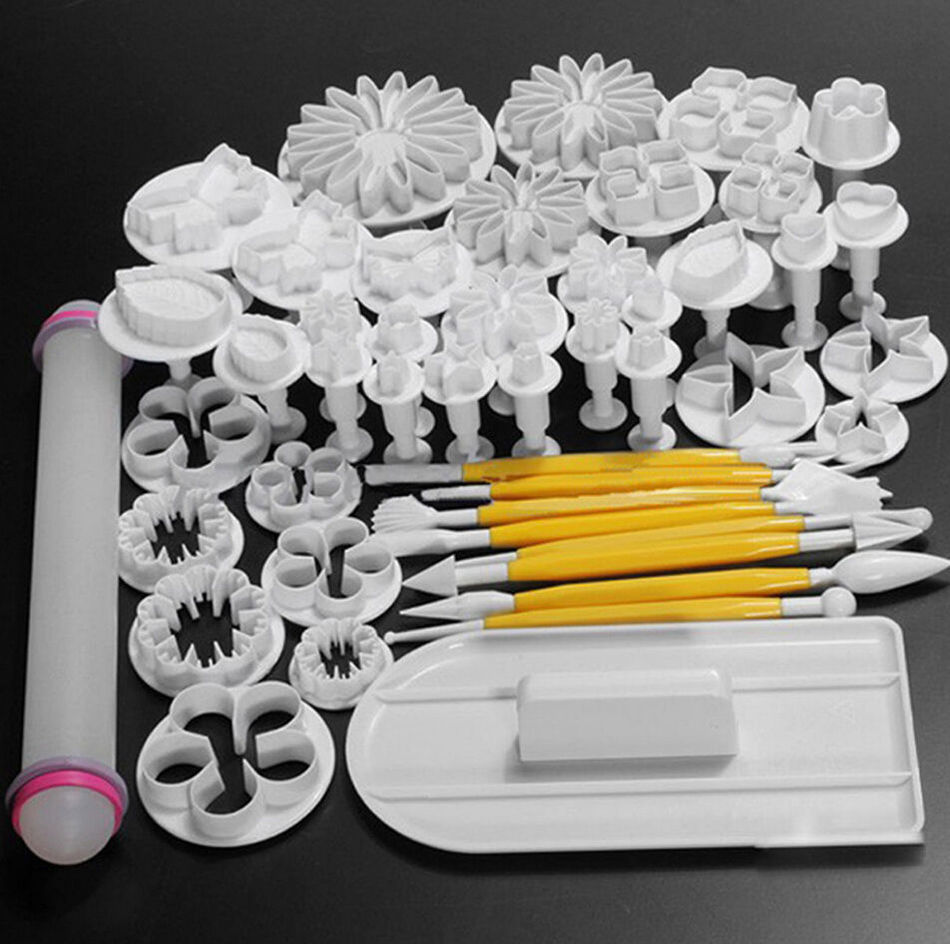 46pcs Pastry Tools Fondant Cake Tools Cookie Cake Mold Mould DIY 3D Useful Cake Decorating Tools
