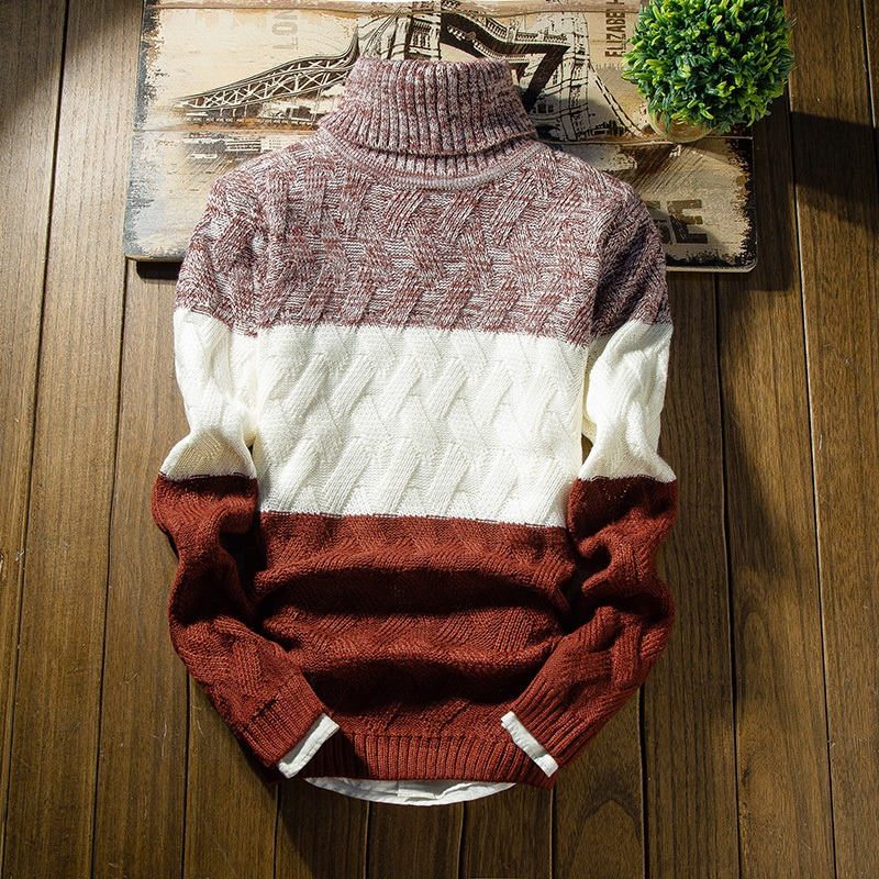 2019 New Winter Thick Sweater Men Long Sleeve Slim Fit Turtleneck Mens Christmas Sweaters And Pullover Men