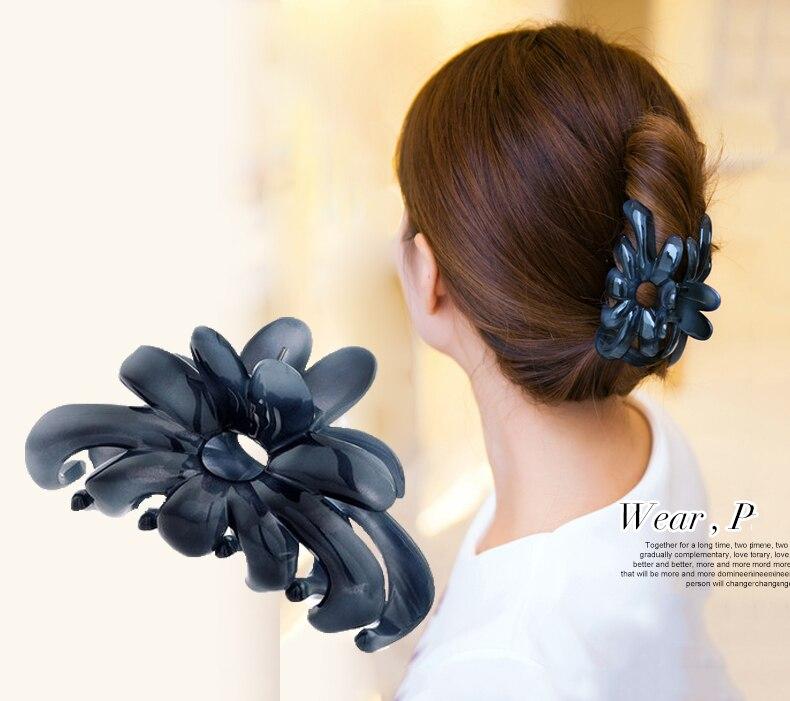 Women headwear fashion shower hair catcher strainer hair claw korean hair clips vintage hair accessories for women