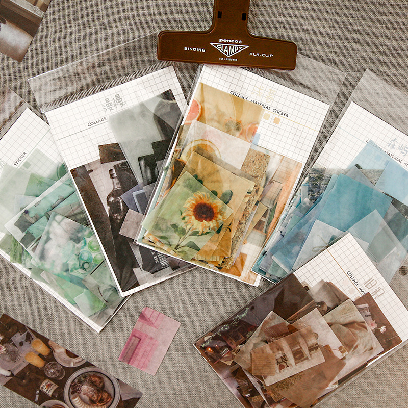 70pcs/pack Vintage Coffee Story Washi Paper Sticker Scrapbooking/Card Making/Journaling Project DIY Diary Decoration Sticker