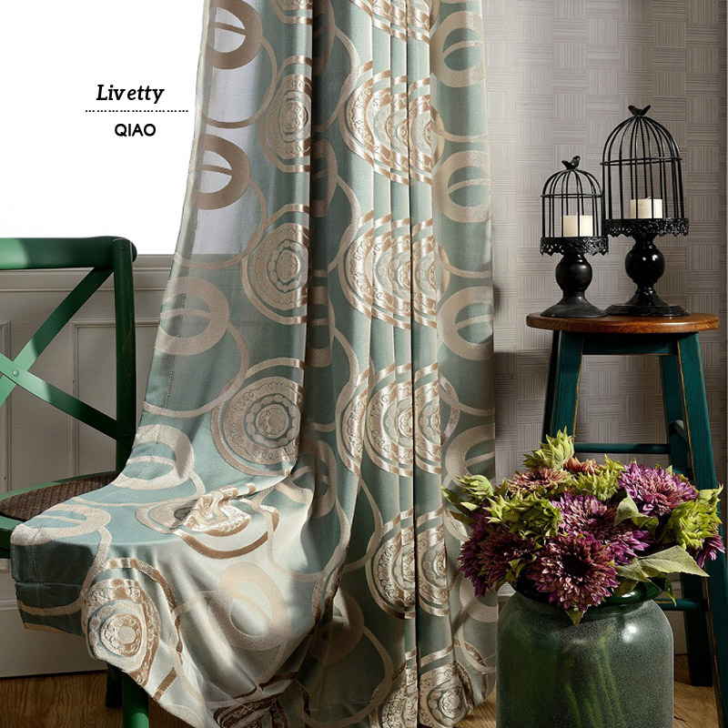 Buy Luxury Curtains For Living Room Chinese Ready Made Jacqu