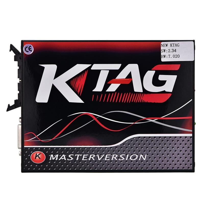 Kein Token KTAG OBD2 V7.020 V2.25 Online Master EU rot ECM Titan KTAG 7,020 ECU Chip Tuning Tool Für Auto lkw ECM Programmierer