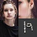 2016 Marca de Fábrica Famosa Pendientes Largos con Aretes de Circonio Cúbico para Las Mujeres Joyería de Moda brincos boucle d'oreille femme WE163