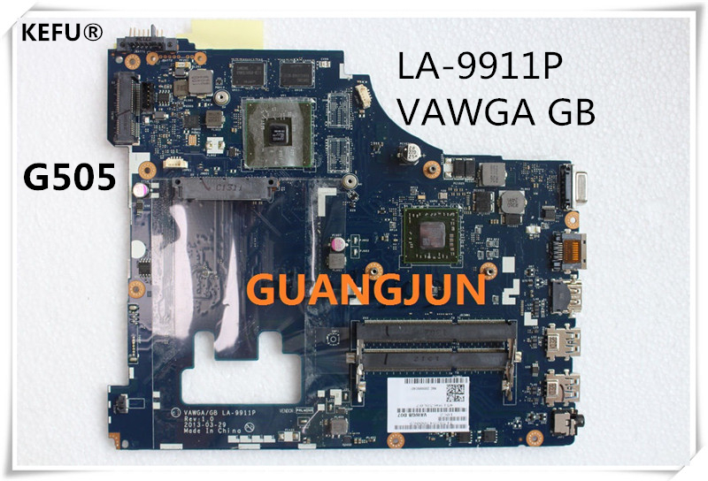 KEFU Free Shiping For Lenovo G505 Laptop Motherboard VAWGA GB LA 9911P with cpu Fully Tested