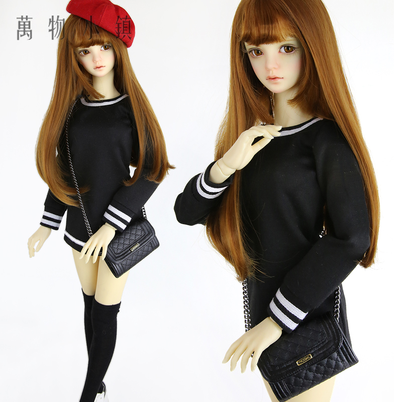 Accept custom New Lovely Black stripes Dress/Skirt 1/3 1/4 BJD SD MSD Doll clothes accept custom european style black leather suit bjd uncle 1 3 sd ssdf doll clothes