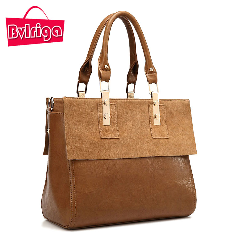ФОТО BVLRIGA Genuine Leahter Bag Handbag Women Bag Frosted Vintage Bags Women Messenger Bags Handbags Women Famous Brands Hot Sale