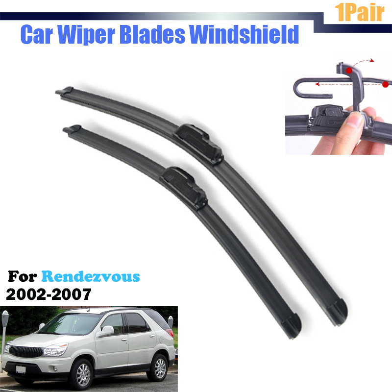 Car Bracketless Soft Rubber Window Windshield Wiper Blades For <font><b>Buick</b></font> <font><b>Rendezvous</b></font> 2002-<font><b>2007</b></font>