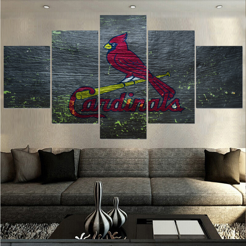 Animal Prints Sport St Louis Cardinals Logo Paintings Wall Art Home
