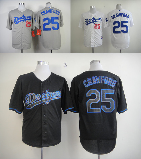 25 Carl Crawford Jersey Black Grey White Carl Crawford Dodgers Baseball  Jersey Discount For Fans Sale Top Quality Online 2530885ce