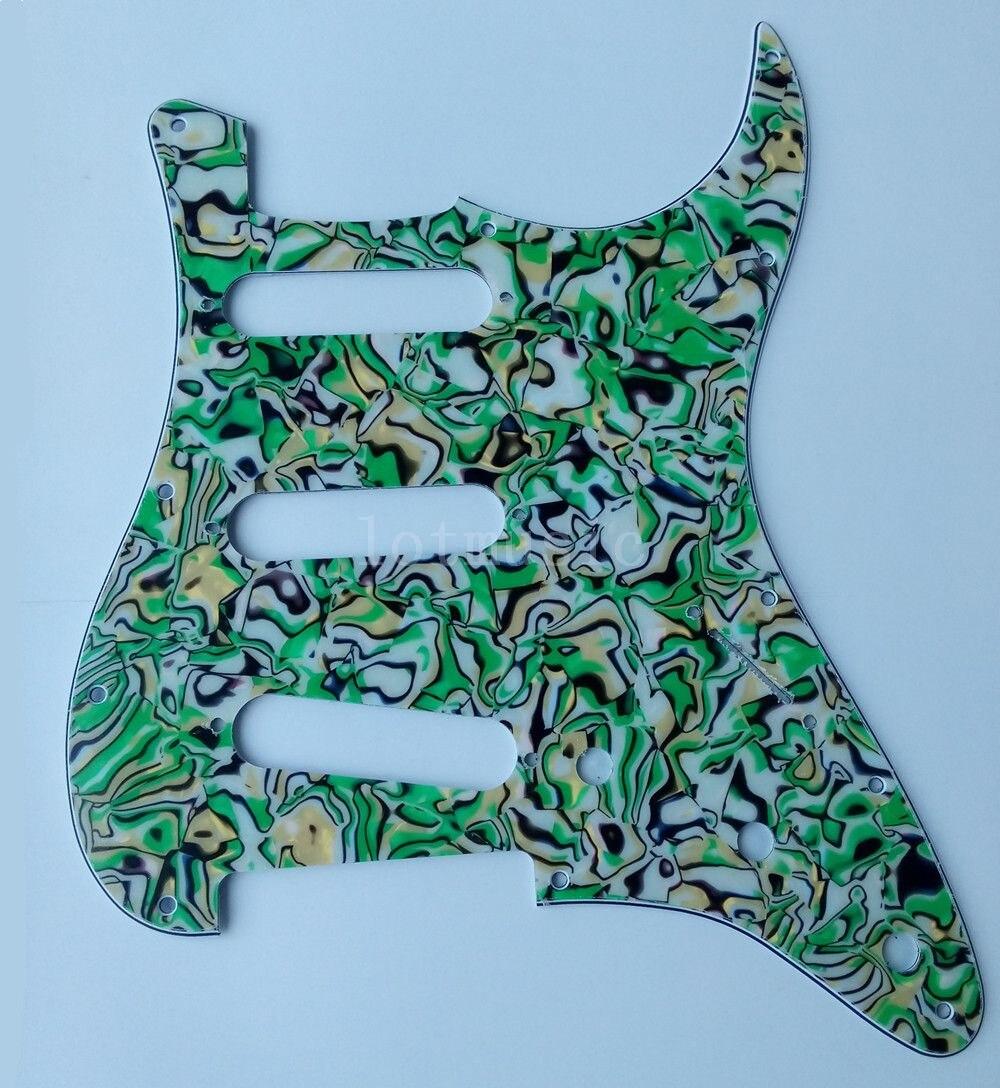 4 pièces nouveau 3 plis vert coquille Pickguard pour garde-boue ST Strat guitare remplacement