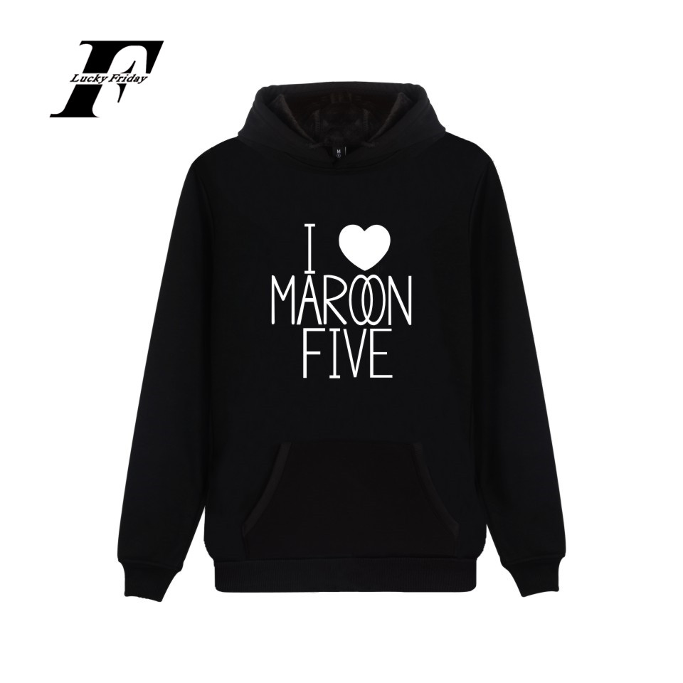 LUCKYFRIDAYF 2017 Maroon 5 Rock Band Harajuku Hoodies Printed Cotton Autumn Mens Hoodies Casual Men Sweatshirts Hip Hop Clothes