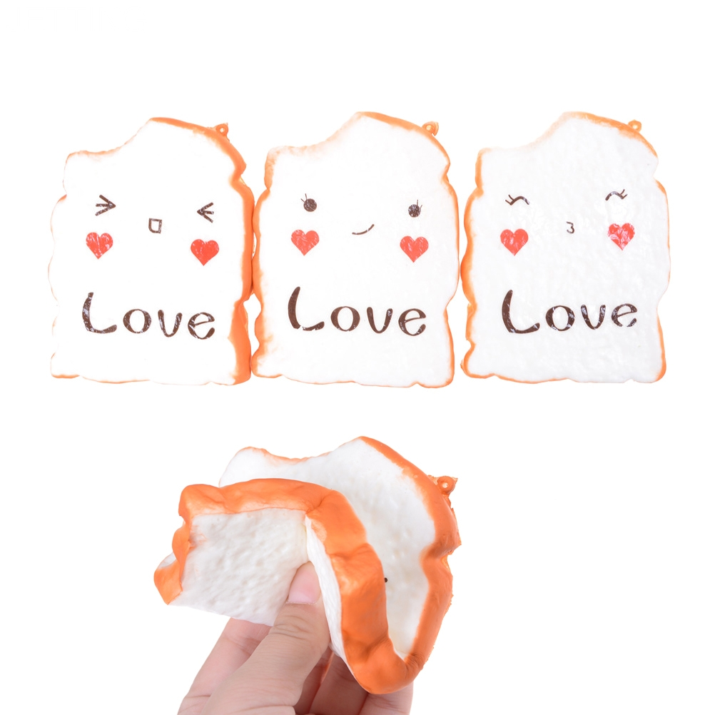 Squishy shop sale - Jetting Hot Sale Love Emoji Jumbo Squishy Bread Charm Phone Pendant Slow Raising Stress Toy Gift