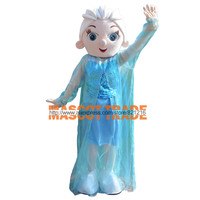 Elsa Princess Mascot Costume Adult Size Fancy Dress for Halloween party event