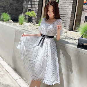 Image 3 - Dabuwawa Womens Retro Sweet Polk Dot Fariry Midi Dress  New Summer Elegant Party Dating Dress DN1BDR127