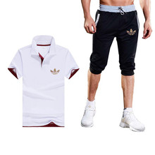 16c5cfdd327 2019Summer Hot Sale Men s Sets polo Shirts+short pants Two Pieces Sets  Casual Tracksuit Male · 14 Colors Available