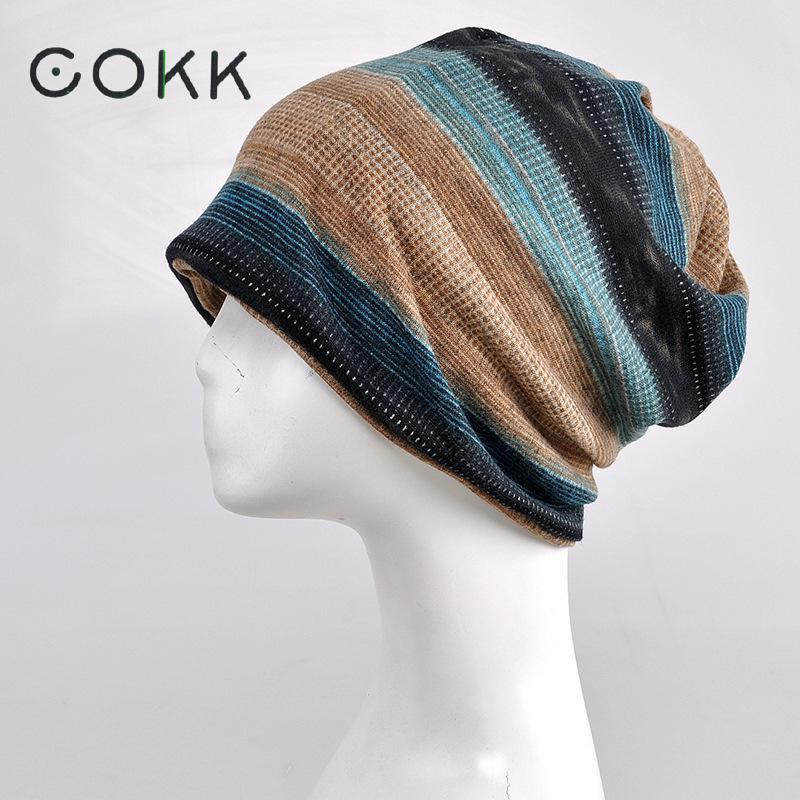 COKK Warm Winter Hat Women Men Knitted Cap Hat Female Male Winter Caps Men's Knit Hats Skullies Beanies Plus Velvet Warm Ski Hat cokk winter hats for women turban hat cap female plus velvet warm beanie knit hat male skullies beanies hip hop scarf bonnet