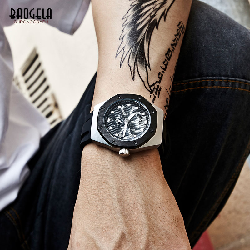 BAOGELA Men 39 s Military Sports Army Quartz Watches Luxury Top Brand Wristwatch Man Relogios Mascuinos Clock Luminous dial 1901 in Quartz Watches from Watches