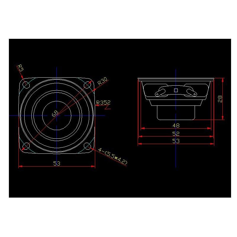 Image 3 - 2pcs 2 inch Full Range Portable Speaker Sound Bar 4 ohm 8 ohm 15W Outdoor Speakers DIY HiFi Boombox Home Theater 5.1 Loudspeakerspeaker 4ohmrange speakerfull range speaker -